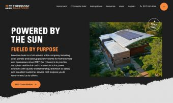 Freedom Solar Power Website